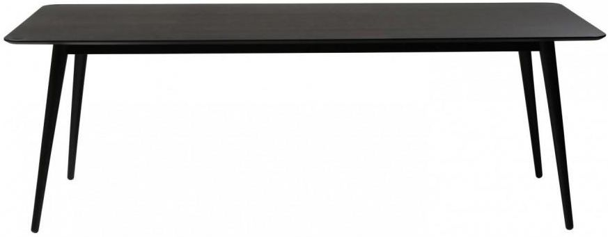 Clearance Half Price - Passo Grey Rectangular Dining Table with Black Legs - New - 489