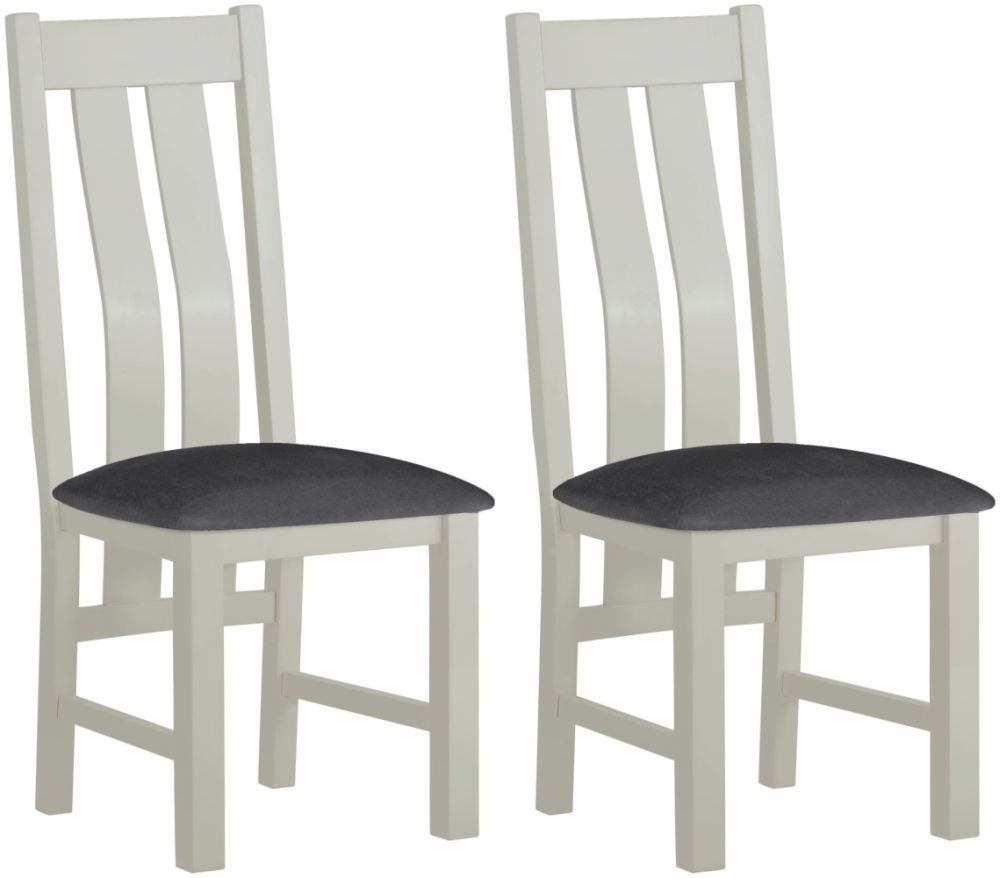 Clearance Half Price - Portland Stone Painted Dining Chair (Pair) - New - 728