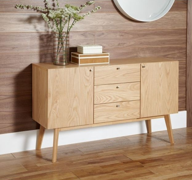 Clearance Half Price - Finchley Oak 2 Door 3 Drawer Large Sideboard - New - 1081