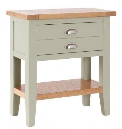Clearance Half Price - Vancouver Expressions 1 Drawer Console Table - Oak and Grey - New - 1089