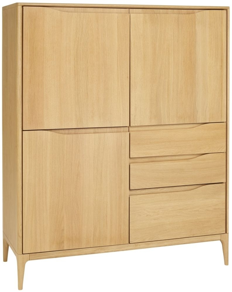 Clearance - Ercol Romana Oak Highboard - New - FS149