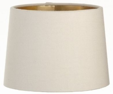 Clearance Half Price - RV Astley Soft Latte Lamp Shade with Gold Lining - Dia 15cm - New - FS142
