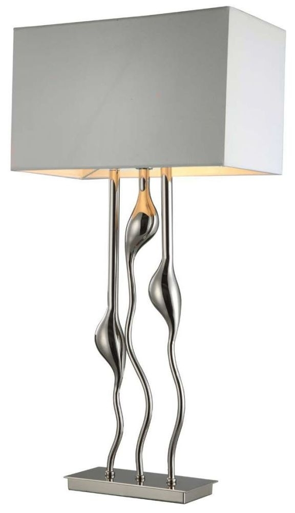 Clearance Half Price - RV Astley Isis Triple Stem Table Lamp - Chrome and Nickel - New - FS211