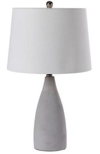 Clearance Half Price - Slim Cement Table Lamp - New - FS212