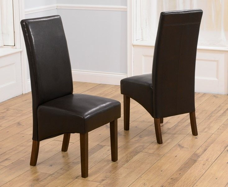 Clearance Half Price - Mark Harris WNG Brown Dining Chair (Pair) - New - 1292