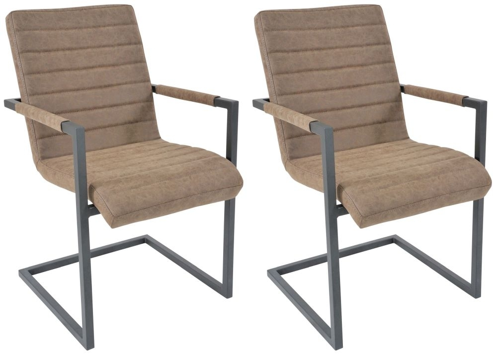 Clearance Half Price - Rowico Lowry Industrial Brunel Dining Chair (Pair) - New - 1207