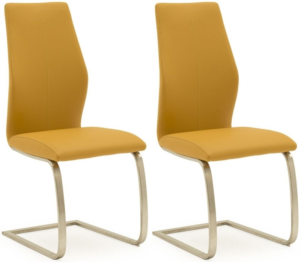 Clearance Half Price - Vida Living Irma Pumpkin Faux Leather Dining Chair (Pair) - New - 1252