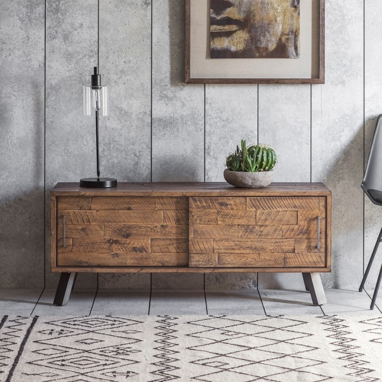 Clearance Half Price - Gallery Direct Camden Rustic Media Unit - New - 4060