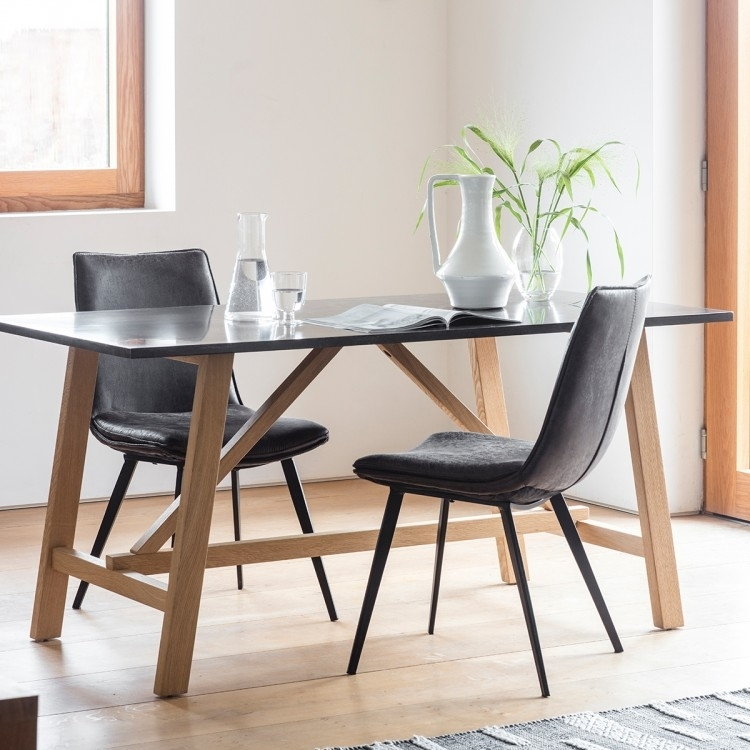 Clearance Half Price - Gallery Direct Brixton Burnished Dining Table - New - FS386