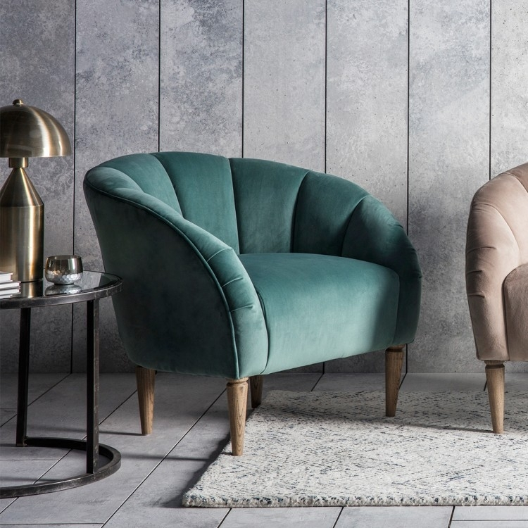 Clearance Half Price - Gallery Direct Tulip Mint Velvet Chair - New - FS385