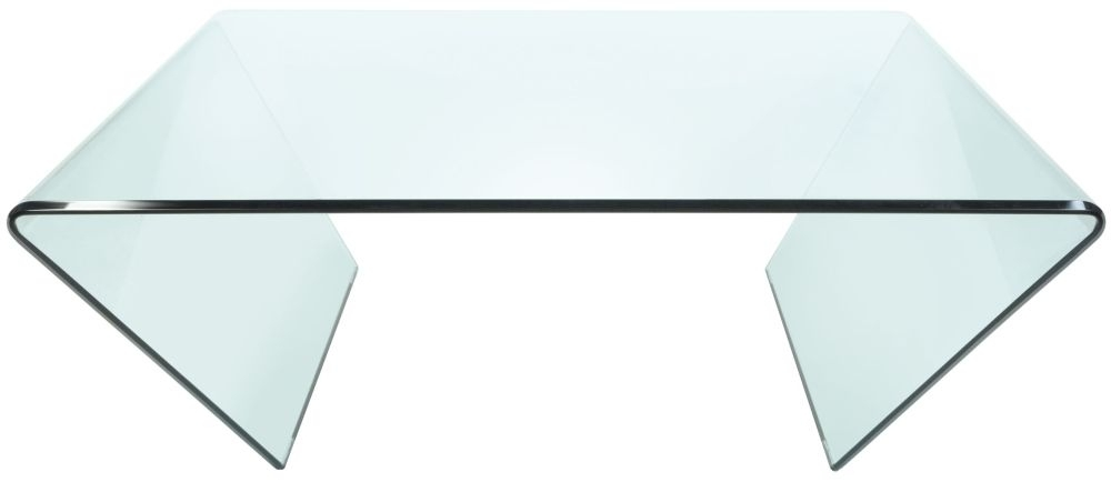Clearance - Greenapple Pure Glass Curvo Square Coffee Table - New - FS880