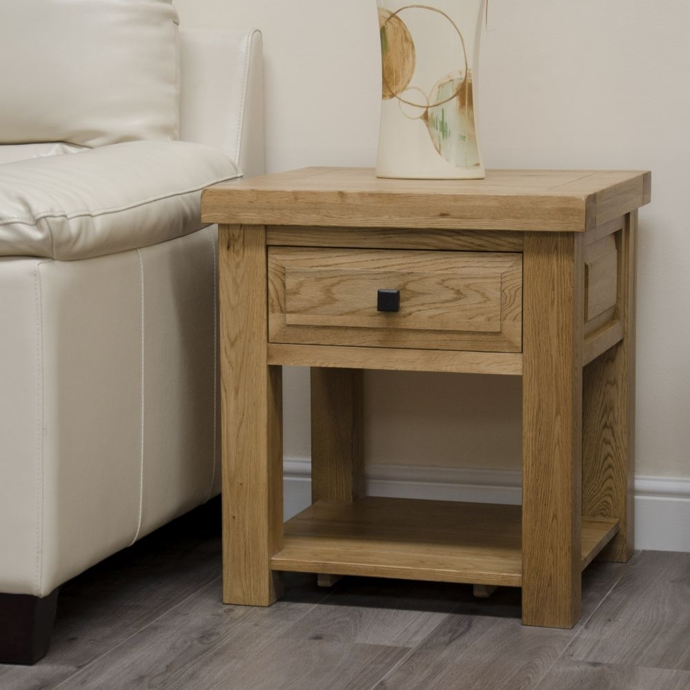 Clearance - Homestyle GB Deluxe Oak Lamp Table - New - FS558