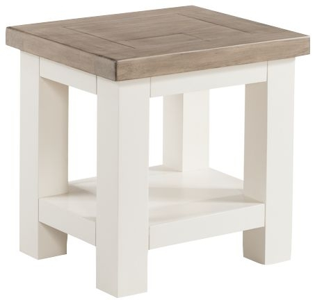 Clearance - Santorini Stone Painted Lamp Table - New - FS883