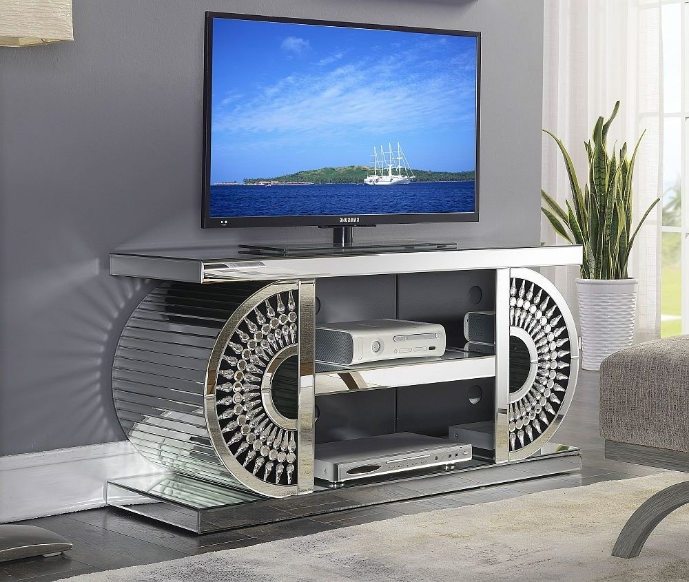 Clearance - Eloy Mirrored TV Unit - New - E-36