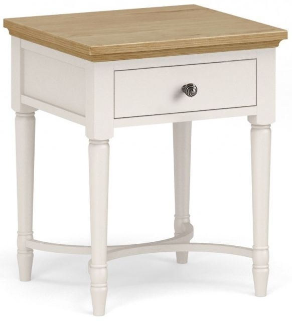 Clearance - Corndell Annecy Smoke Grey Painted Lamp Table - Twist Hadle - New - E-54