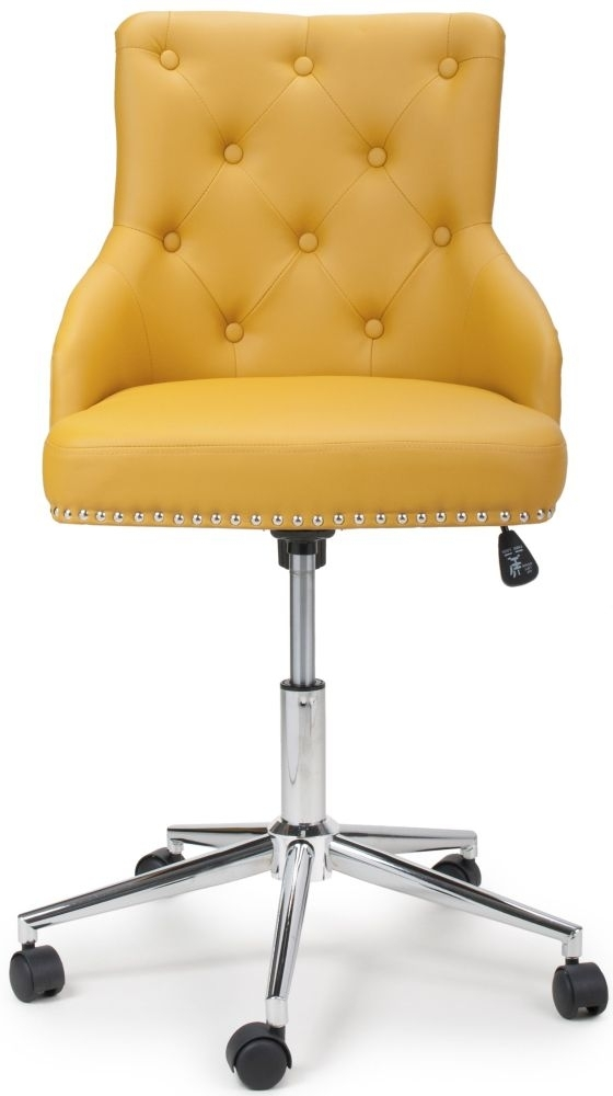 Clearance - Shankar Rocco Yellow Leather Match Office Chair - New - FSS9130