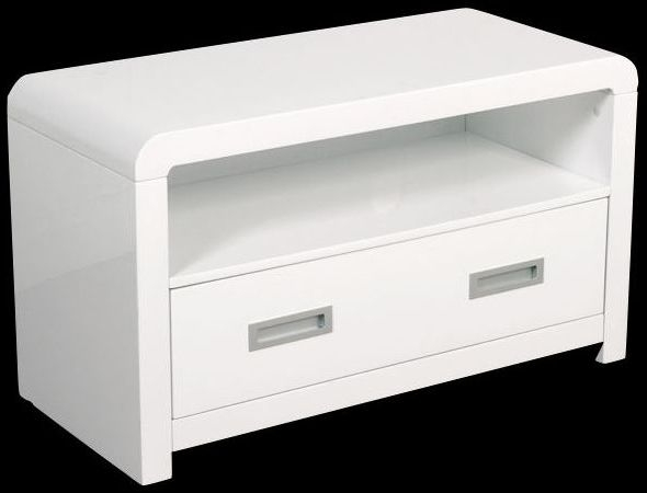 Clearance Annaghmore Atlantis Clarus White TV and DVD Unit - A120