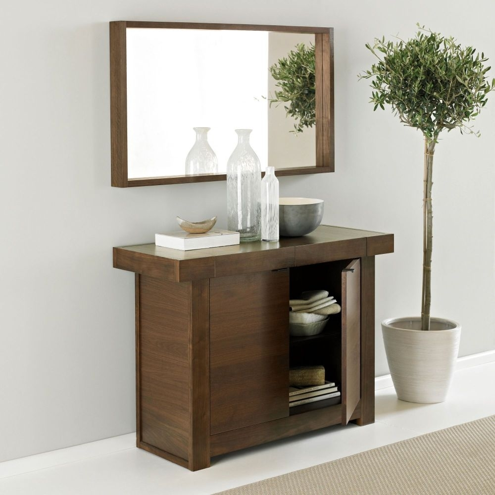 Clearance Bentley Designs Akita Walnut Sideboard - Narrow - 3039