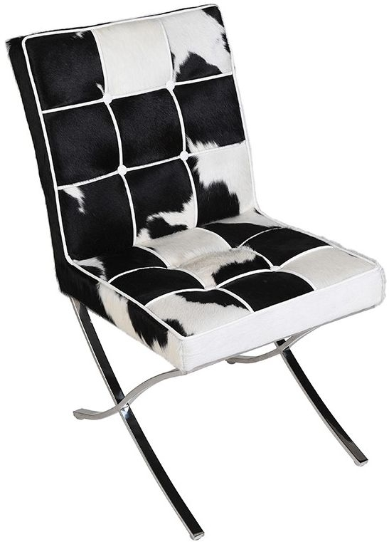 Cowhide Fabric Dining Chair - CL-633