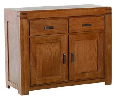 Clearance Furniture Link Boston Oak Sideboard -  2 Doors 2 Drawers - A56