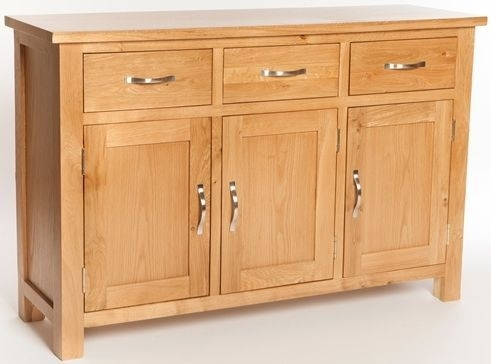 Clearance Furniture Link York Oak Sideboard - Large - C82