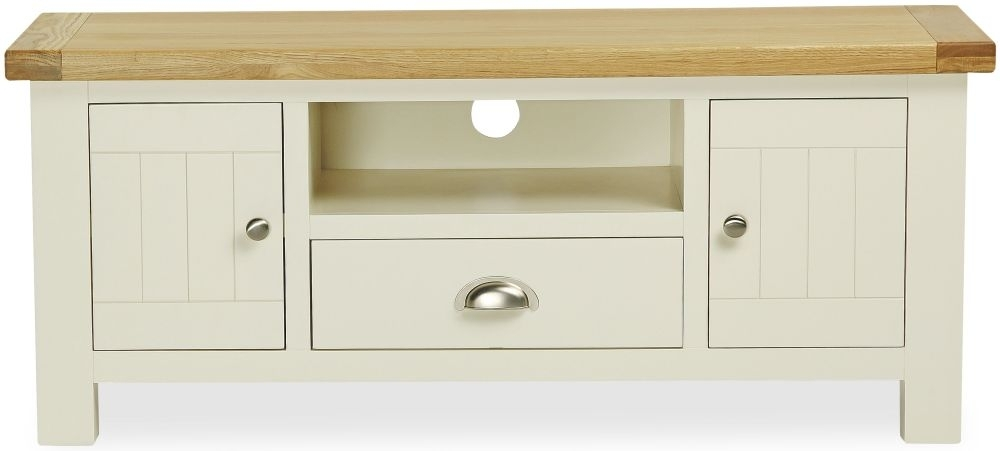 Clearance Global Home Oxford Painted TV Unit - Large with Drawer - C13