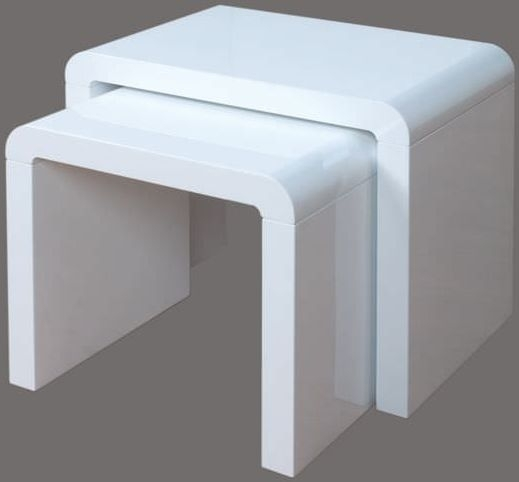 Clearance Half Price - Atlantis Clarus Nest of Tables - White - New - Z1068