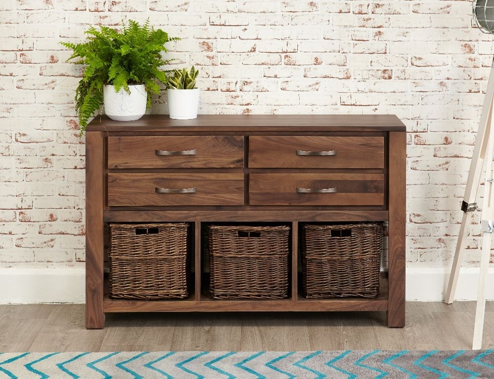 Clearance Half Price - Baumhaus Mayan Walnut Console Table - New - GR13