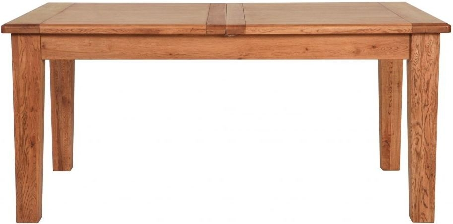 Clearance Half Price - Carlton Rustic Manor Oak Dining Table - Extending 150cm - New - T056
