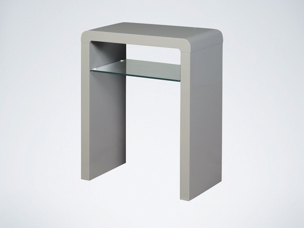 Product photograph showing Clearance Half Price - Clarus Grey Small Console Table - New - F50