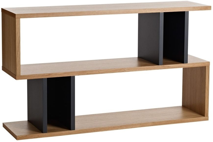 Clearance Half Price - Content by Terence Conran Counter Balance Low Shelving Unit - Oak and Charcoal - New - GR17