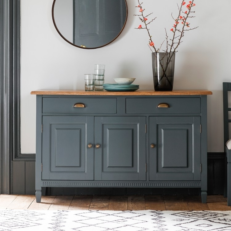Product photograph showing Clearance - Gallery Direct Bronte Sideboard - Storm - New - D145