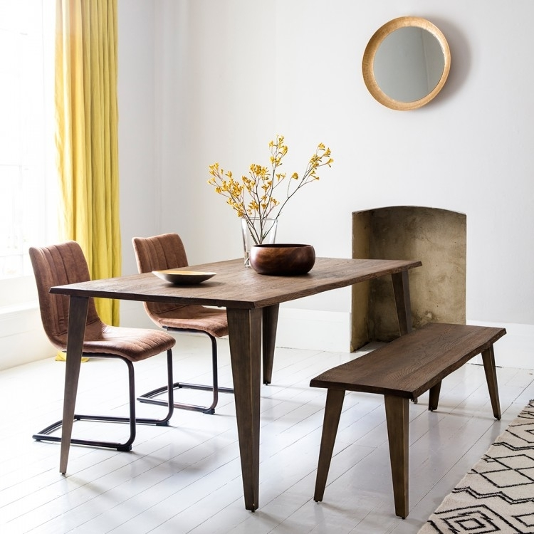 Clearance Half Price - Gallery Direct Foundry Dining Table - Oak - New - T081