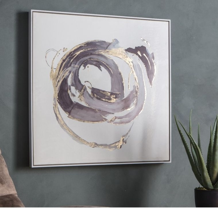 Product photograph showing Clearance - Gallery Direct Opal Abstract Framed Art - New - D133