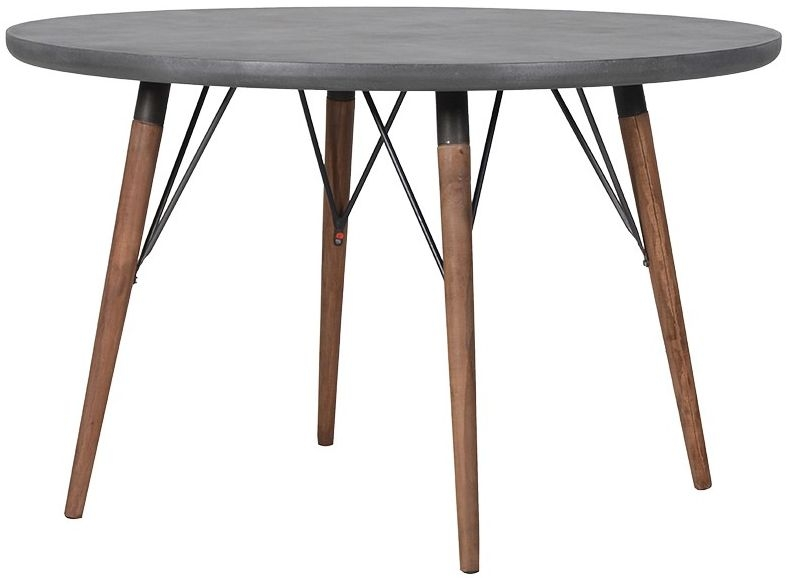 Clearance Half Price - Loft Grey Round Dining Table - New - T084