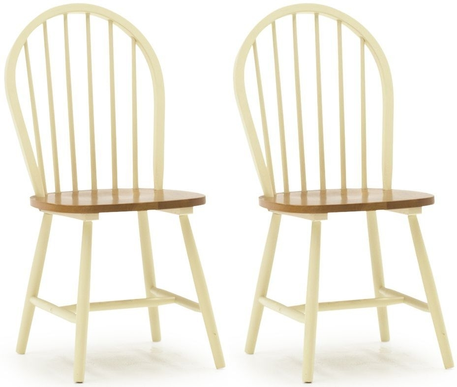 Clearance Half Price - Vida Living Windsor Buttermilk Dining Chair (Pair) - New - T038