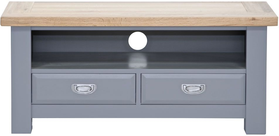 Clearance Half Price - Willis and Gambier Genoa Painted 2 Drawer TV Unit - New - Z1014