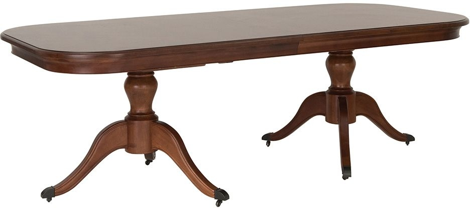 Clearance Half Price - Willis and Gambier Lille Cherry Rectangular Twin Pedestal Dining Table - 229cm-279cm - New - GR69