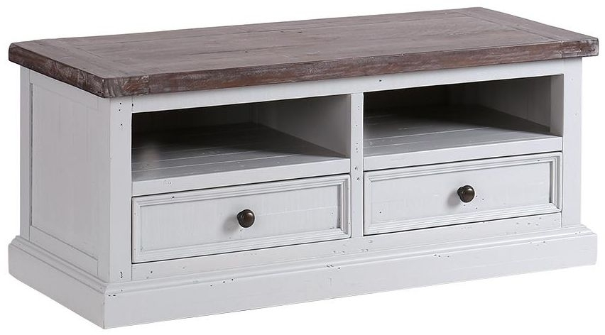 Clearance Hamptons Painted TV Unit - 2 Drawer - 2150