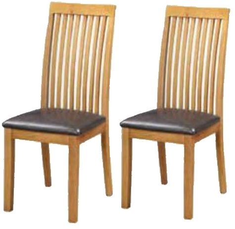 Clearance Half Price - Hartford City Oak Dining Chair (Pair) - New - 629