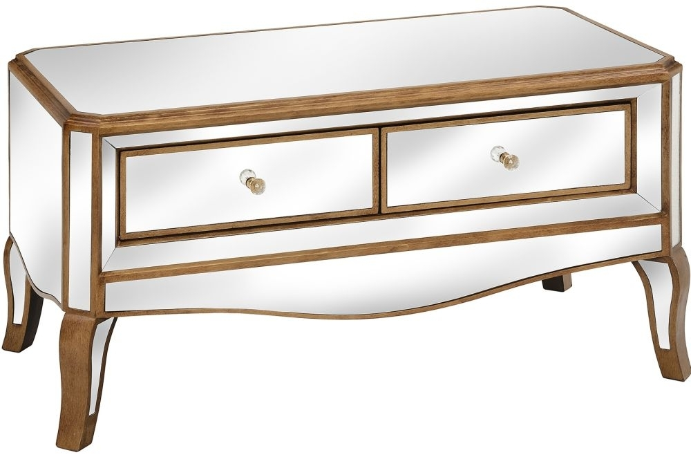 Clearance Hill Interiors Venetian Mirrored Coffee Table A1