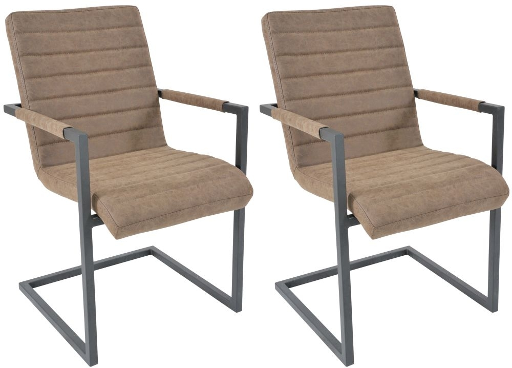 Clearance Half Price - Liddle Industrial Brutal Dining Chair (Pair) - New - 2140