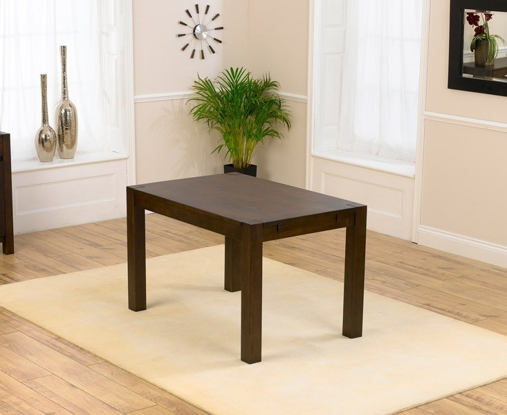 Clearance Mark Harris Verona Solid Dark Oak Dining Table - 120cm Rectangular - A41