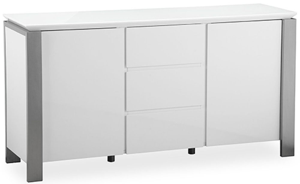 Clearance Pella White High Gloss Large Sideboard - 2151