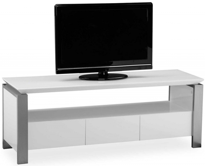 Clearance Pella White High Gloss Large TV Unit - 2152