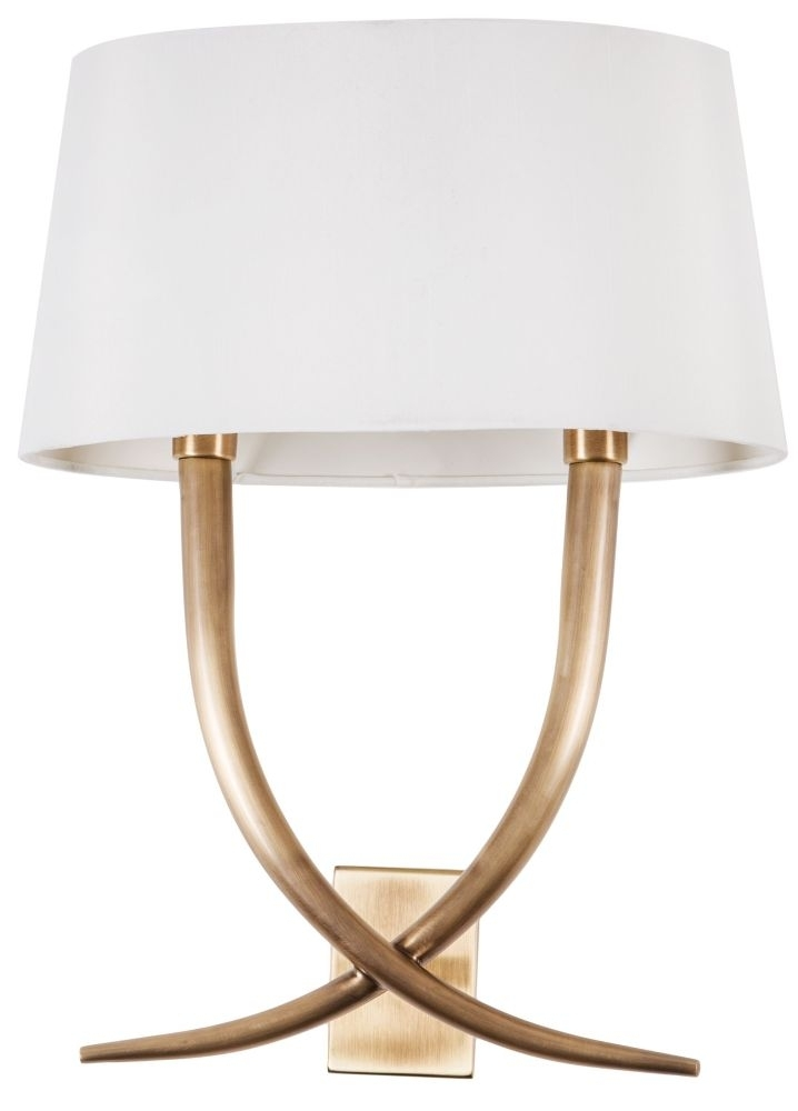 RV Astley Iva Antique Brass Wall Lamp - CL-2199
