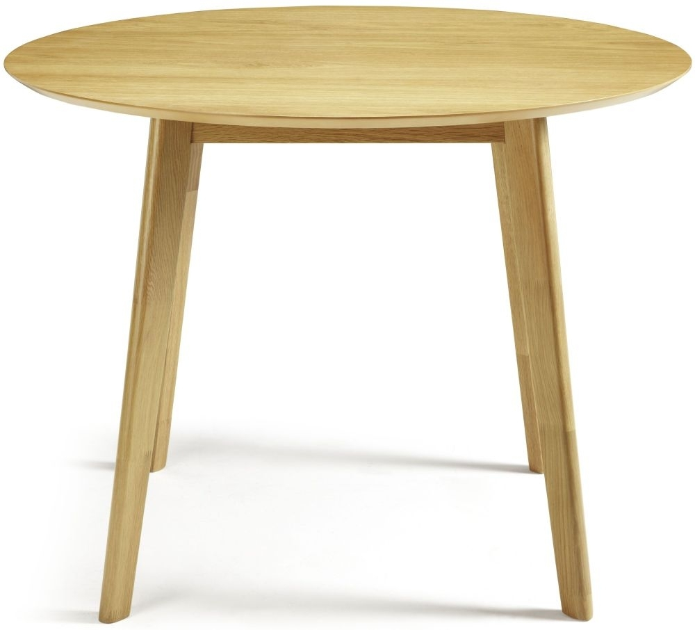 Clearance Serene Croydon Oak Dining Table - Round Fixed Top - 4073