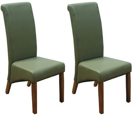Torino Taupe Faux Leather Dining Chair with Oak Leg (Pair) - CL-2097