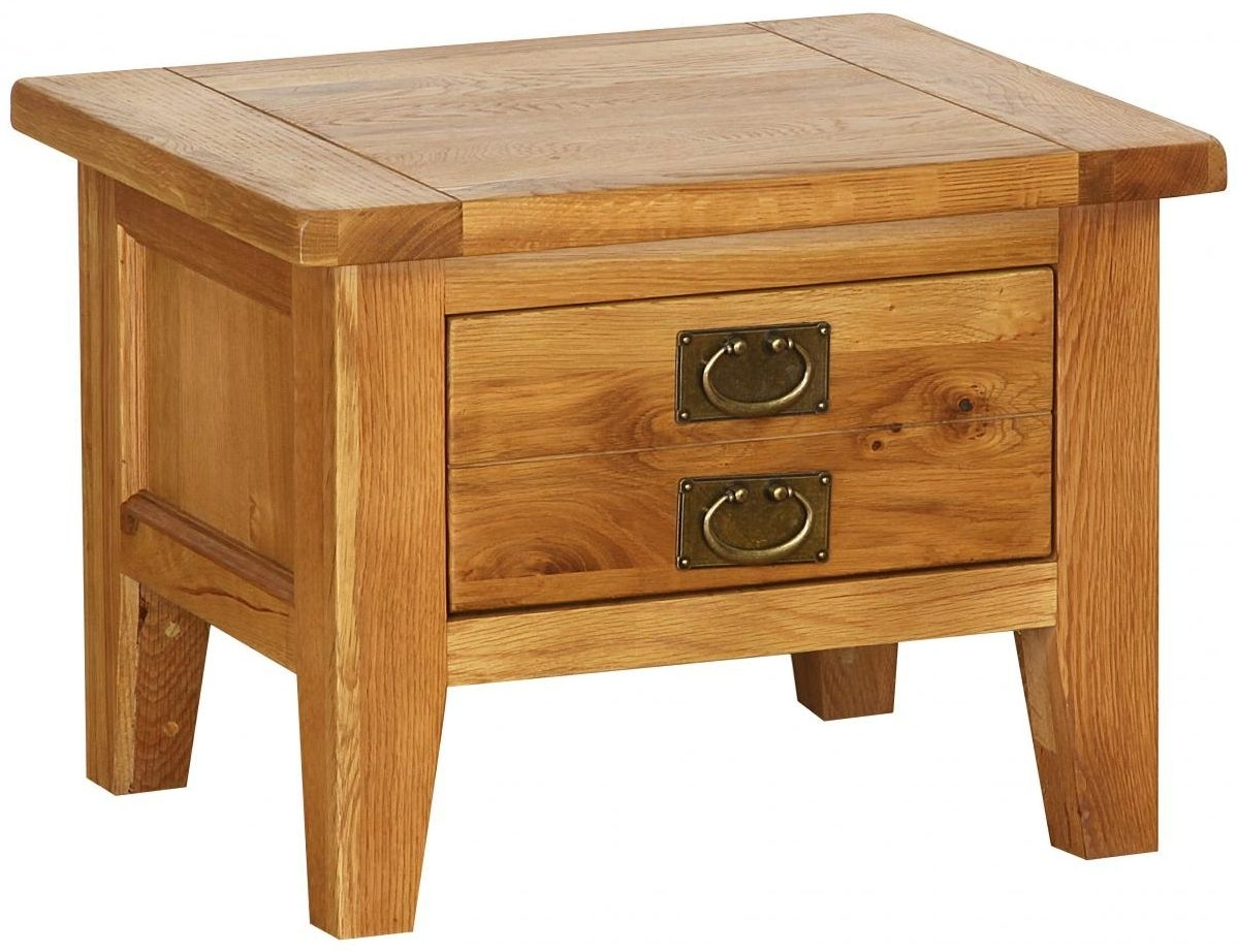 Clearance Vancouver Petite Oak Coffee Table - Small 1 Drawer - C105