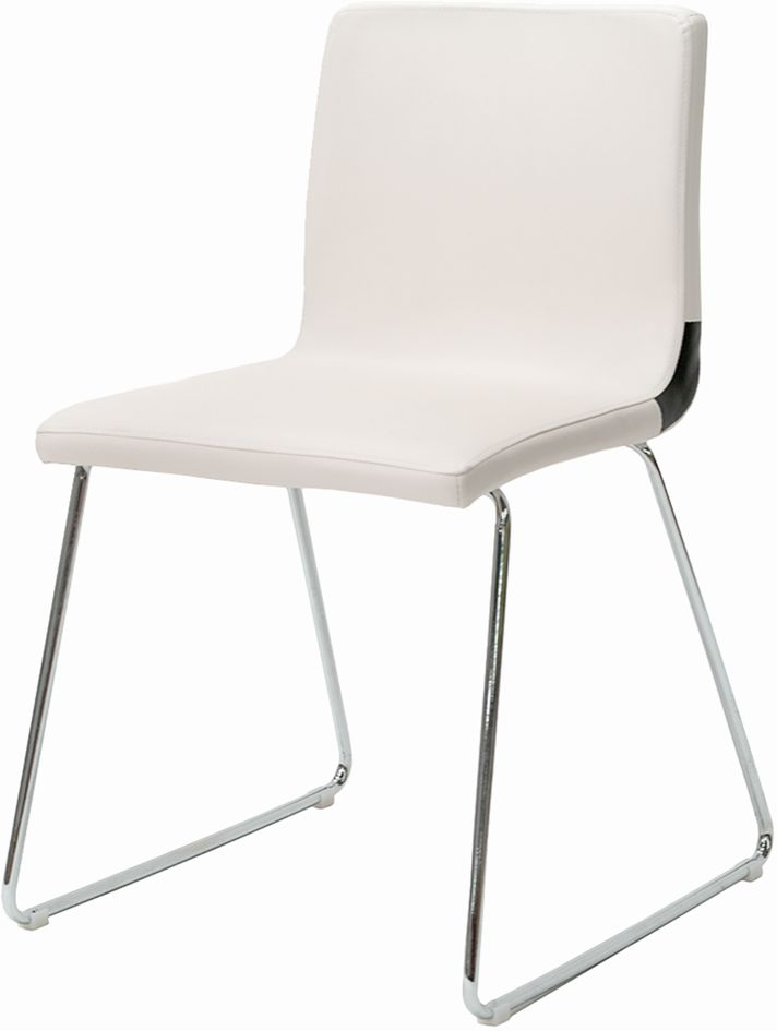 Clearance Half Price - Vida Living Optic White Dining Chair (Set of 4) - New - A100